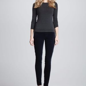 J. Brand Super Skinny Steel Blue Velvet Pants