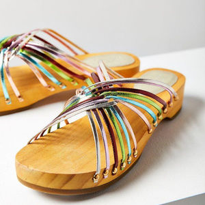 Urban Outfitters • Rainbow Leather Sandal