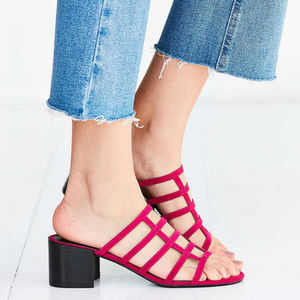 Urban Outfitters • Lattice Cage Mule