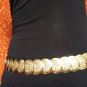 Vintage Accessories - 💫GOLDEN GYPSY COIN Belt Dancer Coins