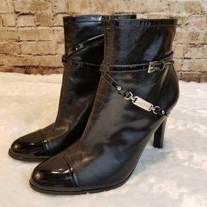 Ralph Lauren Black Stiletto Booties