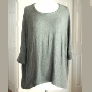 Victoria's Secret Slouchy Sweater Knit Top Gray
