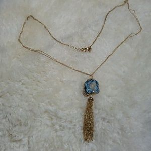 Tassel with stone necklace