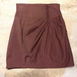 Beautiful mini skirt with row of buttons S
