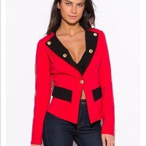 Jackets & Blazers - Rare 🎉Price Drop🎉 Military RedBlack Blazer