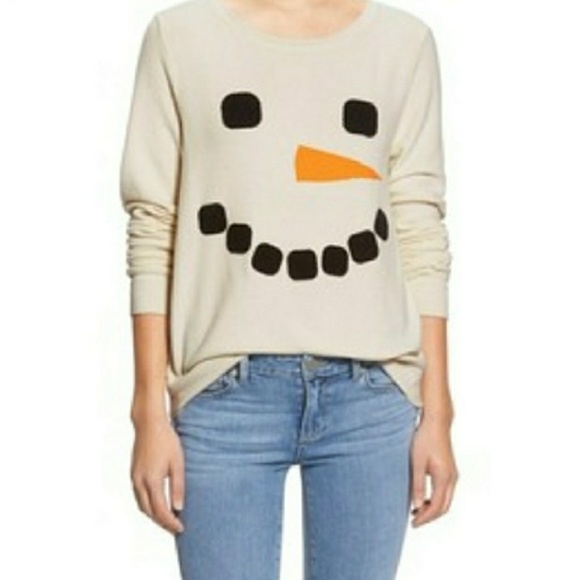 Wildfox Christmas Sweatshirt.Wildfox Nwt Frosty Snowman Christmas Sweatshirt