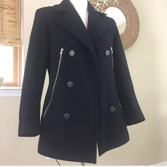 91% off Dkny Other - DKNY Zipper Pea Coat Black Men's Small Wms ...