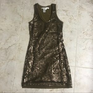 Gold Geometric Max Studio Dress size small