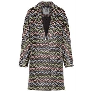 MILLY Lola Brocade Metallic Coat