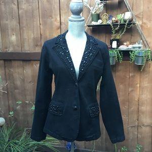 VINTAGE Beaded Black Denim Jacket 🖤
