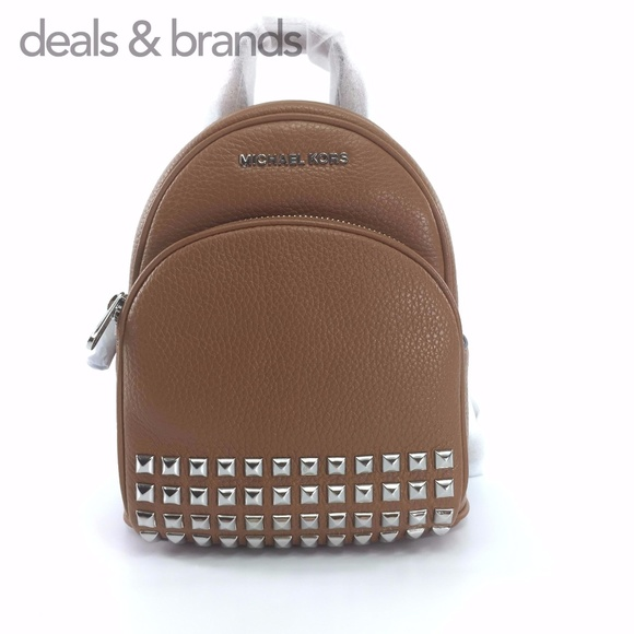 1e53e264e9 NWT MICHAEL KORS Leather Abbey XS Studded Backpack