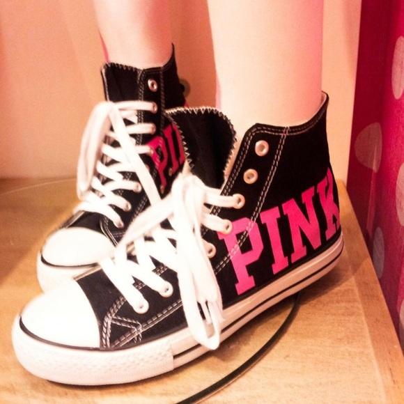 Pink Victoria S Secret Shoes Vs Pink Prop Converse Poshmark