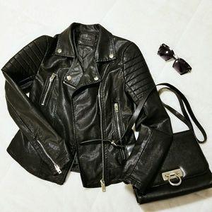 [BLANKNYC] Faux Leather Moto Jacket