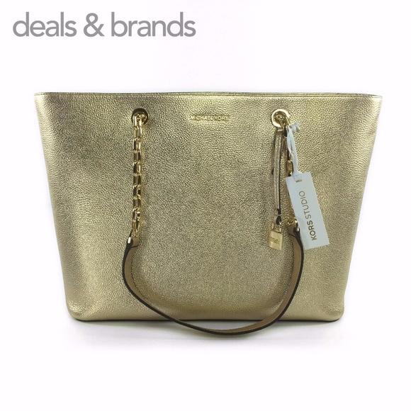 956a23386ca773 Michael Kors Bags | Nwt Mercer Chain Leather Md Tz Tote | Poshmark