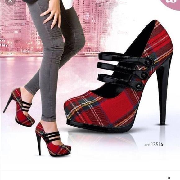 Red Black Heels