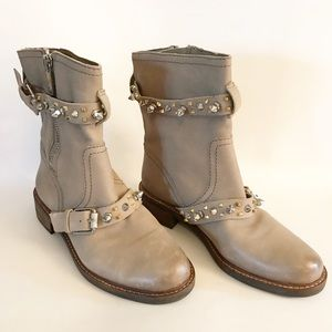 b0686be1d Sam Edelman Shoes - Sam Edelman Adele Studded Spike Moro Boot Tan 7