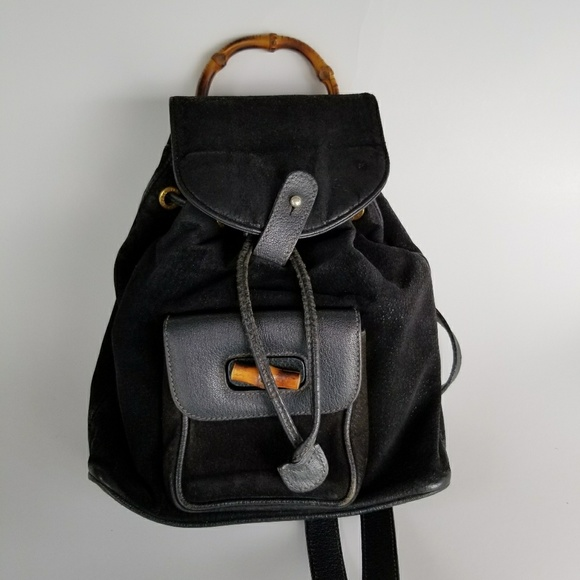 b49af15ed7ce1a Gucci Bags | Bamboo Black Suede Mini Backpack | Poshmark