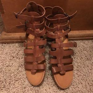 Gladiator sandals adjustable straps