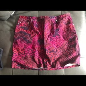 Express multicolored snake print skirt size 9/10