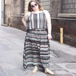 2 Piece Tribal Print Outfit - Plus Size