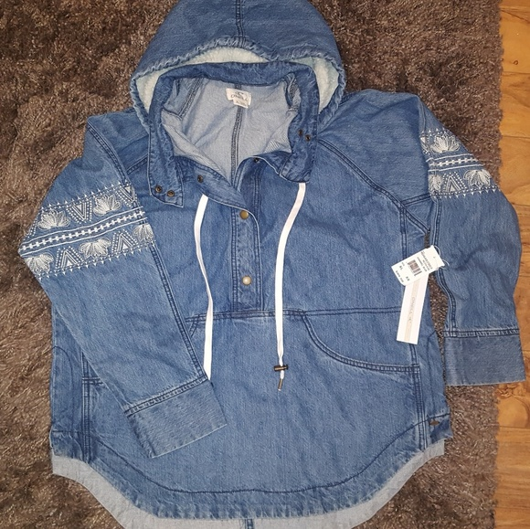 newest collection 2f6b1 d36c1 O'Neill Redwood Denim Pullover Jacket NWT