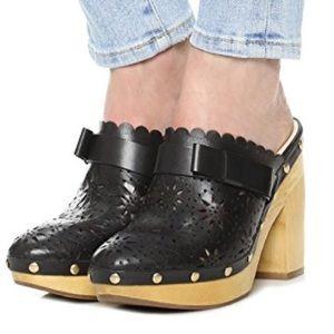 Kate Spade Cala Black Clogs Size 5.5M