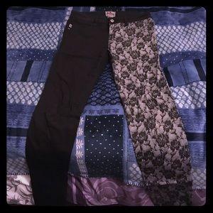 Black & lace pants