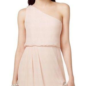 Adrianna Papell Pink Chiffon Blouson Dress NWT