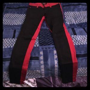 Black & red pants!