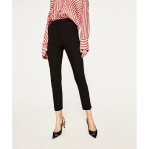 High Waisted Black Trousers Size 6