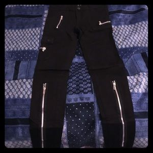 Black Zipper pants
