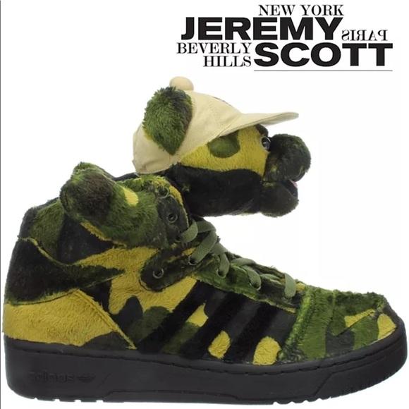 Brand NEW Jeremy Scott x Adidas Camo Bear Sneakers f2c43c10b6c9