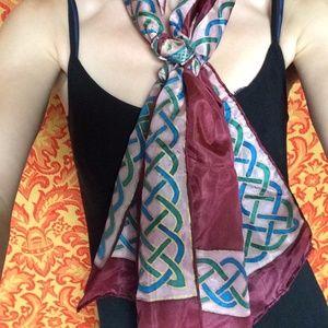 Silk Irish Celtic Knot Rectangle Scarf