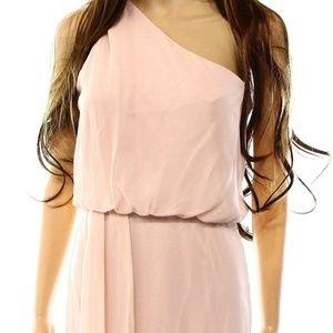 Adrianna Papell Blush Pink Shoulder Blouson Dress