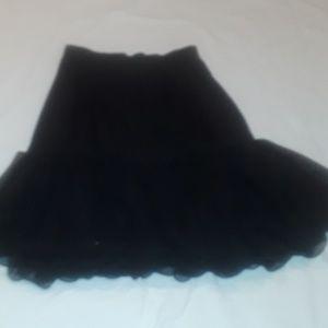 Dresses & Skirts - BLACK ELEGANCE SKIRT 100%POLYESTER  WITH SHEER