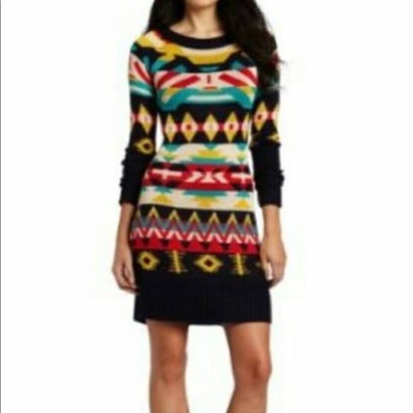 531a0281a1 Jessica Simpson Aztec Sweater Dress