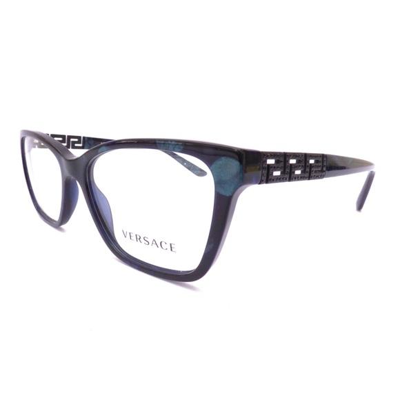 c1d3fccf3242 ... Versace Blue Marble Eyeglasses! M 59df1174f09282d84b02773c