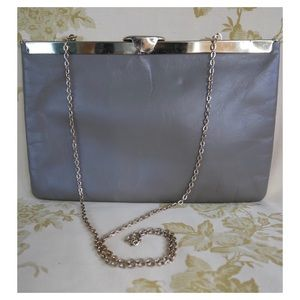 Super Versatile Taupe Vintage Clutch with chain