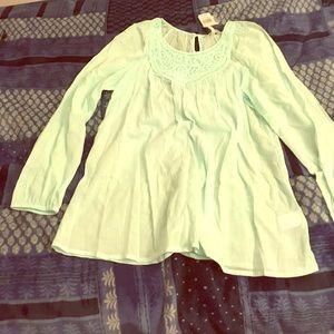 Ice blue blouse