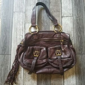BULGA brown leather bag