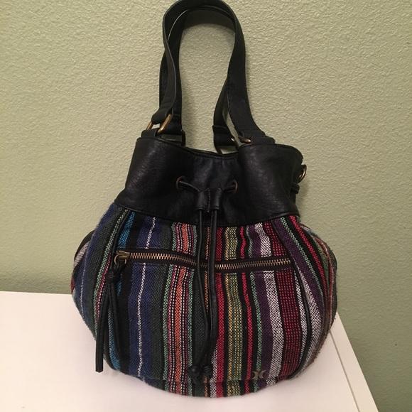f864b83682 HURLEY Handbags - HURLEY boho bag/cinch up satchel