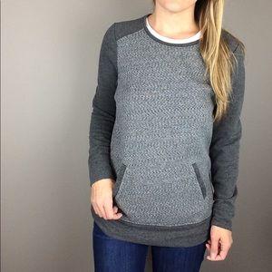 LOFT gray sweatshirt style pullover with pocket