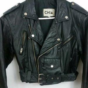 Jackets & Blazers - Vintage Moto jacket 100% leather