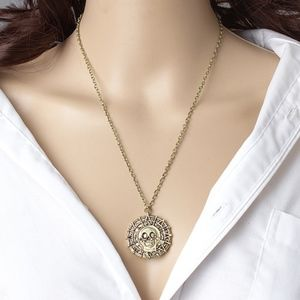 Jewelry - Gold Pirates Of The Caribbean Skull Necklace