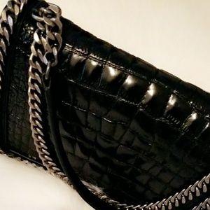Brand New Zara Leather Crocodile Chain Bag Medium