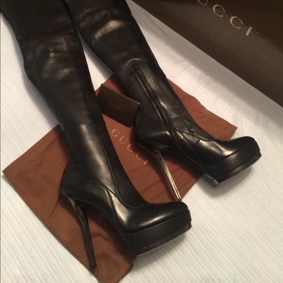 4c1ea08ddc3b Gucci Platform Nappa Stretch Thigh High Boots