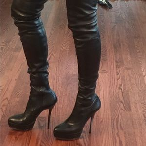 8e0a9a82d061 ... bab6c45f5773 Gucci Shoes - Gucci Platform Nappa Stretch Thigh High  Boots ...