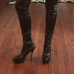 539b67e39c4 Gucci Shoes - Gucci Platform Nappa Stretch Thigh High Boots