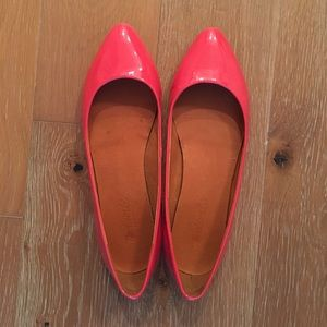 Shoes - Red Pointed Madewell Flats