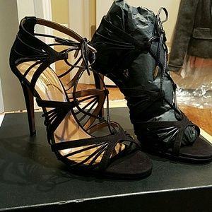 Aquazzura Very Holli 105 Suede strappy heels 39.5